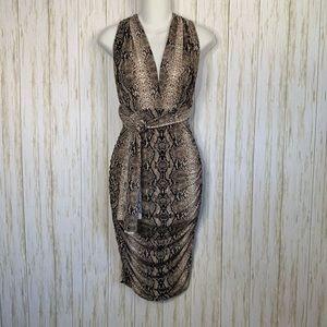 Moda International Dress halter Snake Print